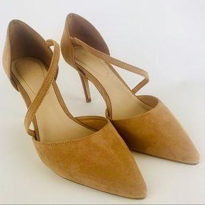 ALDOS Tan High-Heel Pointed-Toe Pumps Size 7